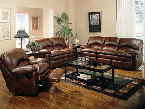 Leather Sofa In Living Room Living Room Decor Ideas With Brown Furniture