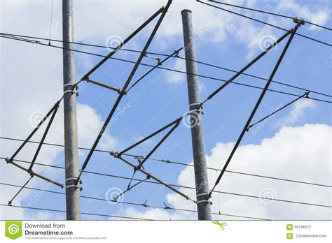 blue wires in electricity wired sky stock photo image 59788012