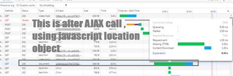 javascript tutorial location href javascript waiting time is high when using window