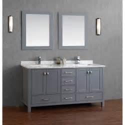 Buy vincent 72 inch solid wood double bathroom vanity in charcoal grey
