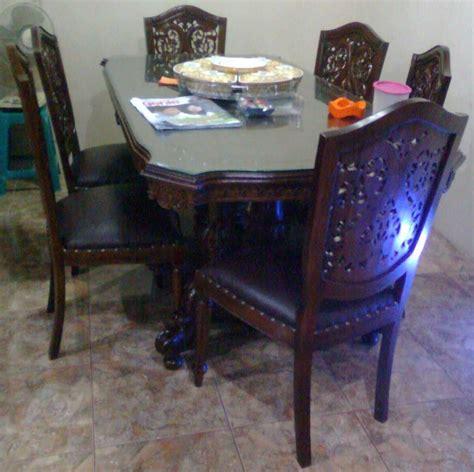 Meja Kayu Biasa meja makan set jati karunia jaya