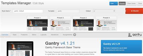 gantry template joomla gantry framework per joomla pro e contro