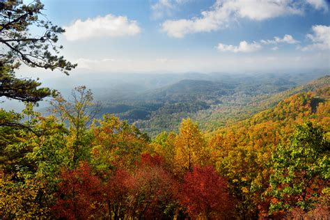 tennessee colors fall foliage pigeon forge