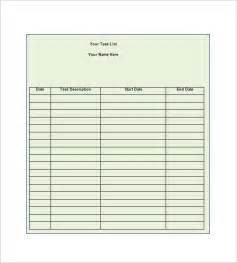 Task List Word Template Daily Task List Template 8 Free Sample Example Format