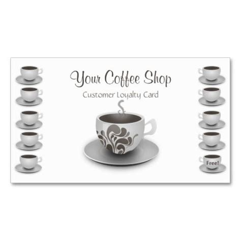 coffee loyalty card template free 29 best images about coffee shop loyalty card templates on