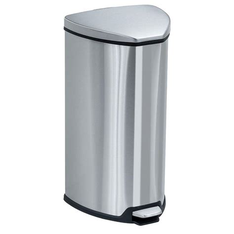 nine 3 2 gal brushed stainless steel motion sensing
