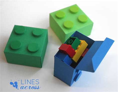 11 diy lego inspired crafts for kids and adults shelterness lego gift boxes with free templates lines across