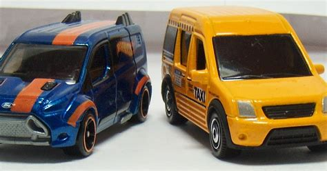 Diecast Ford Transit Connect Hotwheels Miniatur Two Desktop Wheels And Matchbox Ford Transit Connect