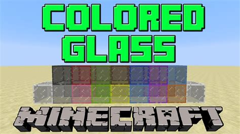 colored glass minecraft how to make colored stained glass in minecraft update 1