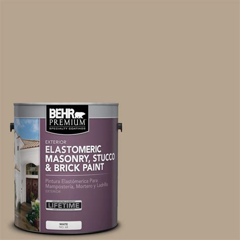 behr premium 1 gal pfc 33 washed khaki elastomeric masonry stucco and brick paint 06801 the