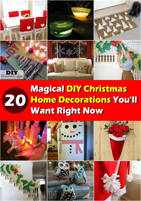 diy home christmas decorations 20 magical diy christmas decorations all created