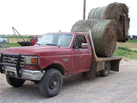 bale bed 1991 ford f250 4x4 with deweze bale bed nex tech