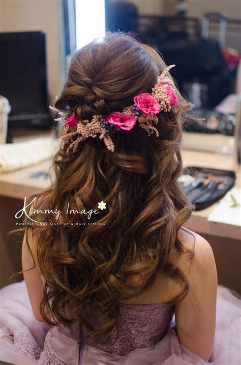 indian hairstyles for dinner dreamy flowery hairstyle makeup and hairstyles