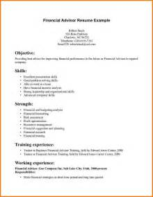 Financial Advisor Resume Exles by Financial Planning Resume Financial Advisor Resume Sle Free Certified Financial Planner