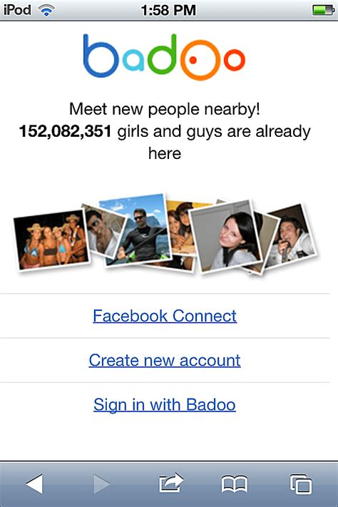 mobile sign in how to sign in to badoo for mobile web