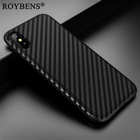Folie Carbon Iphone by Aliexpress Buy For Iphone X Carbon Fiber Cover