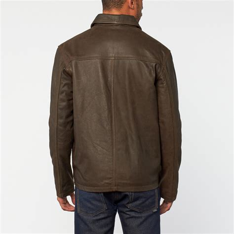 rugged leather jacket rugged distressed leather jacket distressed brown s excelled apparel touch of modern
