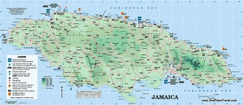 map of and attractions maps update 2043884 tourist attractions map in jamaica