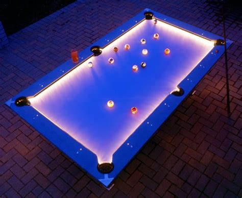 pool table lights outdoor pool table features built in lighting for