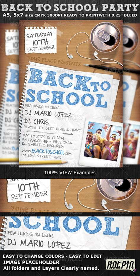 school flyers templates free back to school flyer template graphicriver