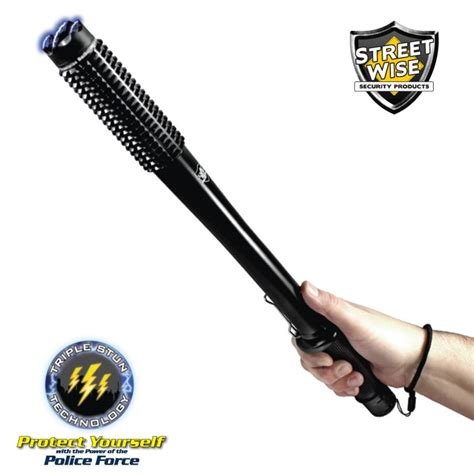 streetwise barbarian led stun gun baton 9m the home