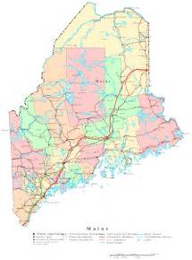 Map Of The State Of Maine by Maine Printable Map