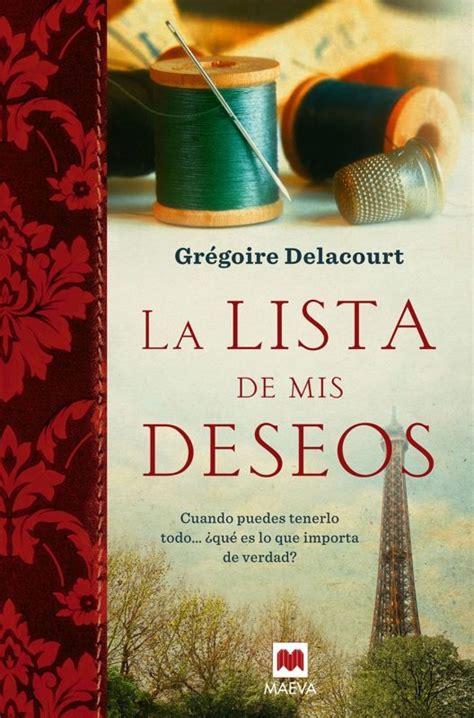 libro la lista la lista de mis deseos gregoire delacourt comprar el libro