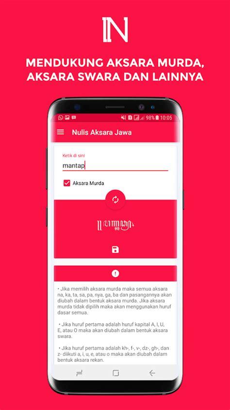 Kritik Teks Jawa nulis aksara jawa konversi dan ketik aksara jawa android apps on play