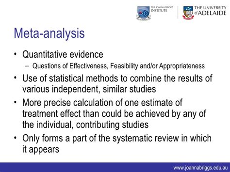 Meta Analysis As Quantitative Literature Review by Systematic Reviews The Process Quantitative Qualitative And Mixed