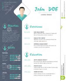 contemporary resume sles modern curriculum vitae resume with photo stock vector