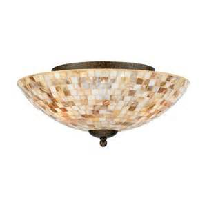Quoizel Flush Mount Ceiling Light Quoizel My1613ml 3 Light Monterey Mosaic Flush Mount Ceiling Light Malaga Atg Stores