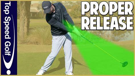 golf swing release proper golf swing release for golfers top speed golf