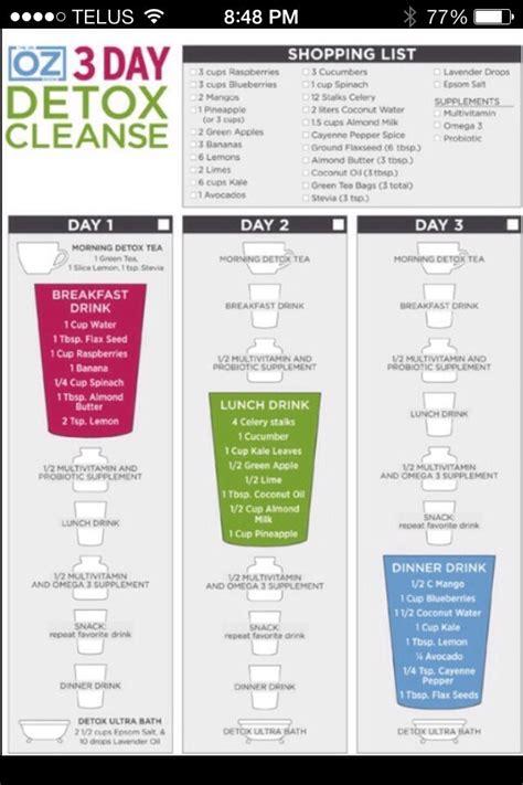 17 Day Detox by Dr Oz 3 Days Detox Cleanse Trusper