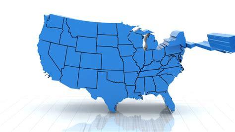 map   united states  random order stock footage