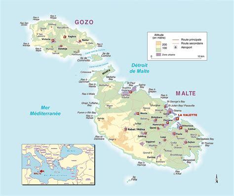 malte carte touristique 187 vacances arts guides voyages - 0004490487 Carte Touristique Malta And