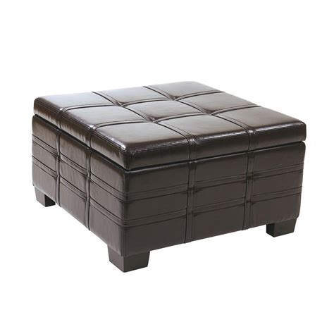 Espresso Ottoman Storage Hton Bay Folding Ottoman In Espresso Eh Othdus 002e The Home Depot