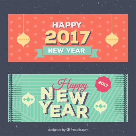 happy new year 2016 banner happy new year 2016 banner pack vector premium