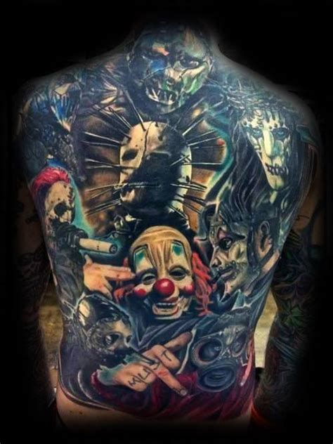 50 slipknot tattoos for men heavy metal band design ideas