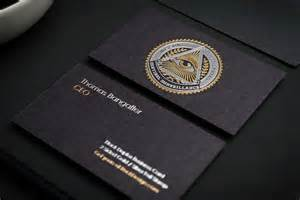in black business card black business cards