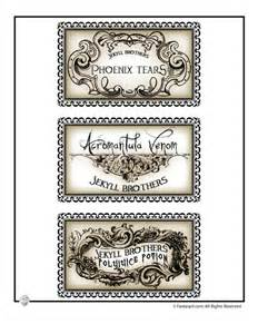 printable halloween labels for bottles and potions harry