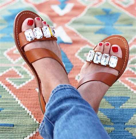 diy jeweled shoes bejeweled summer accessories diy sandals