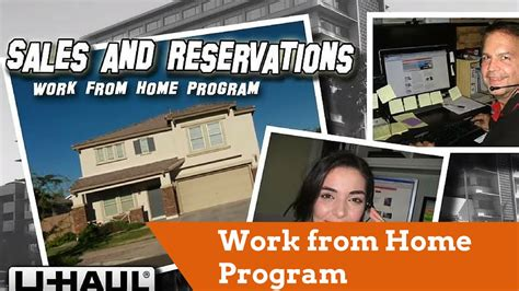 work from home program u haul sales and reservations