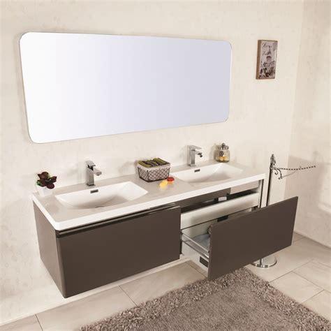 lavello bagno sospeso mobile bagno sospeso moderno 150 cm doppio lavabo