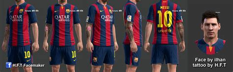 messi tattoo in pes 2016 pes 2013 l messi full tattoo by h f t pes patch