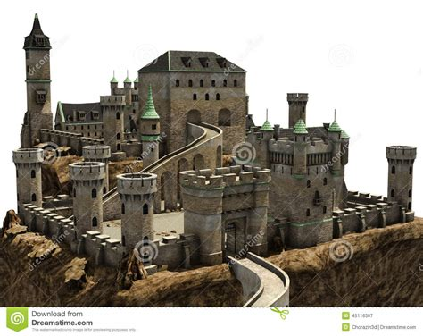 Castle Floor Plans by Fantasy Castle On A Hill Stock Illustration Image 45116387