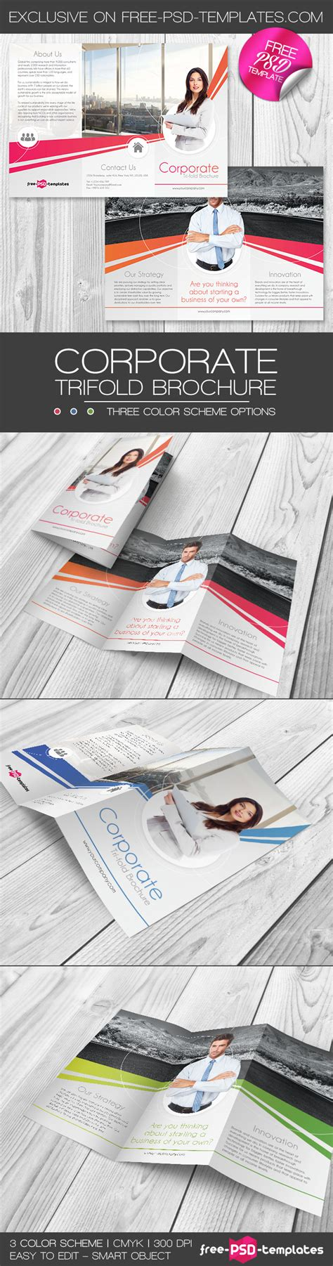 Corporate Free Psd Trifold Brochure Template In Psd Free Psd Templates Corporate Brochure Templates Free
