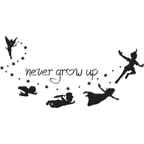 never grow up peter pan silhouette google search