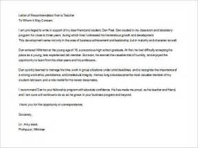 Student Letter Of Recommendation Template Letters Of Recommendation For Teacher 26 Free Sample