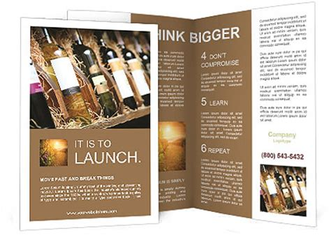 Wine Brochure Template Free by Wine Shop Brochure Template Design Id 0000007426