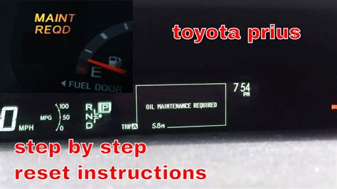 How To Reset Maintenance Required Light On Toyota Corolla 2012 Toyota Prius Maintenance Required Light Reset